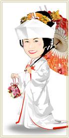 白無垢:和傘スタイル・ブーケ